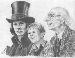 Wonka, Charlie and Grandpa Joe by honorat