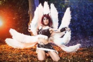 Woad Wolf Ahri: Let's have some real fun by MowkyCosplay