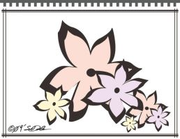 Japanese Flower Stationary by helvainia