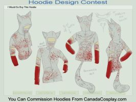 Bloody Psycho Kitty Hoodie by NovaCupcake
