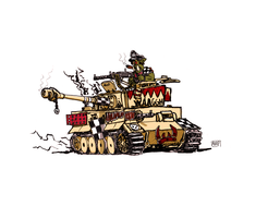 Looted Tiger Tank (Colored) by Marpaparp