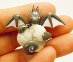 Howlite Dragon Heart Pendant by Micrackin