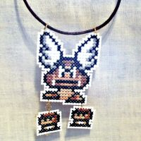 Flying Goomba Necklace by agorby00