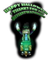 Happy Halloween + Thanks for 200 Watchers! by 11IceDragon11