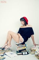 Girl with Red Beret_I by cande-knd