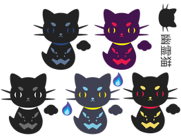 Ghost Cats for Phantom Life ::COMM:: by Itachi-Roxas