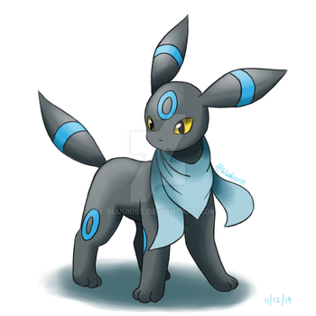 Request: Shiny Umbreon with Foulard by BluuKiss