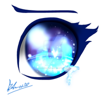 Blue Eye Color Practice ~ by chichicherry123