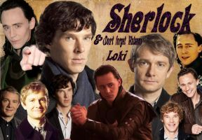 Sherlock and Loki (we mustn't forget Watson now) by spottedparr