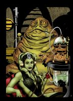 Jabba the Hutt and Oola by statman71
