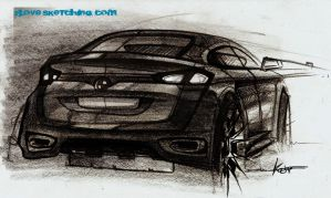 bmw x-series rear sketch by ecco666