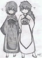 Saya and Judal as Kids by KingofBeastsGrimmjow