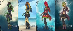 Ocean fashion set by merrypaws