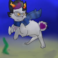 Kittystuck Kitty Eridan in the sea by Siver-69