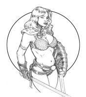 Red Sonja practice sketch by ccicconi