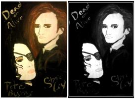 Dead or Alive - band painting/drawing by laracroftblog1000