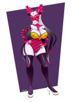 Psycho Pink Monster Girl by that-girl-whodraws