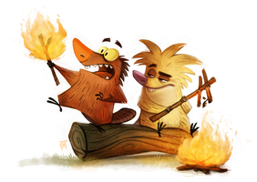 Day 589. Angry Beavers by Cryptid-Creations
