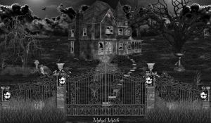House On Haunted Hill (Monochrome) by XWykydWytchX