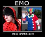 EMOs are sad Clowns by TakeTheSquid