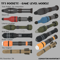 TF2 Rocket Models by Elbagast