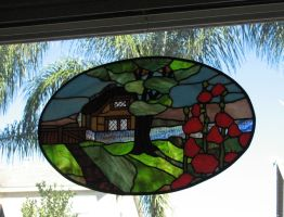 Stained Glass Cottage by tursiart