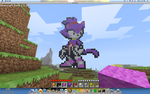 Blaze the Cat in Minecraft by the-system-is-down