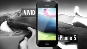 iPhone 5 Vivid Wallpaper by wahashmi