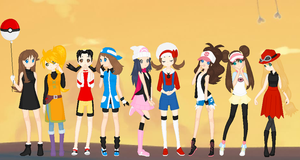 Pokemon Leading Ladies by SelenaEde