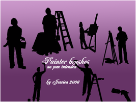 Painter brushes by moonburst23