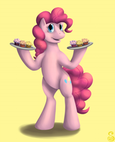Print: Pinkie Pie's Muffins by Shrineheart