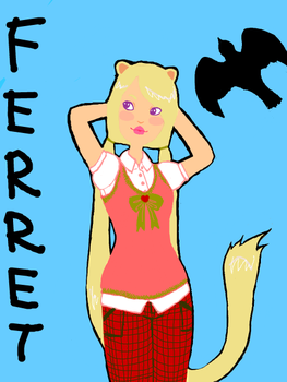 Ferret-Girl -tegaki e- by tatsku