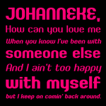 Font: JOHANNEKE - preview by jelloween