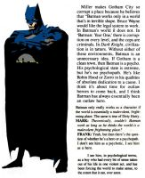 Frank Miller on Batman: Obsessed, Not Psychotic by StevenEly
