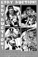 Mini Monsters Ebay Auction! by BryanBaugh