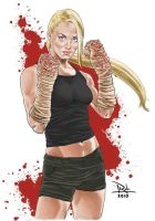 Sarah Walker-Bloody Kickboxer by RobCabrera
