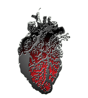 STRONG METALLIC HOT BEATING HEART by ADAtheQueenOfHEARTS