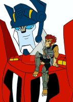 Lion O and Optimus Prime by xero87