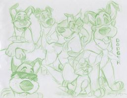 Dodger Sketch Sheet by MicahJo