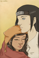 Neji and Irisu by scribblin