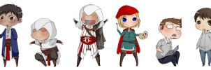 Assassin's creed chibis by Abnormal-Anomoly