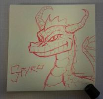 Spyro - MAY 3 '14 Art Jam by JeremiahLambertArt