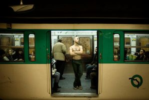 Francois at the metro by dsiqueiros