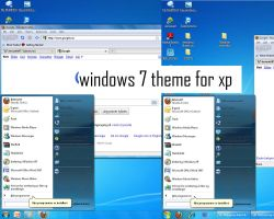 windows 7 theme for xp by Shelkadom