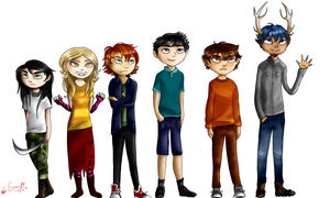 The grand lineup by TheHomicidalPigeon