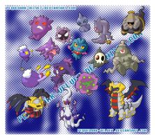 CHIBI POKEMON STICKERS: GHOST