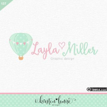 Hot Air Balloon Logo Design by KirstenLouiseArt