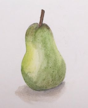 Pear Watercolor by neagimadoko
