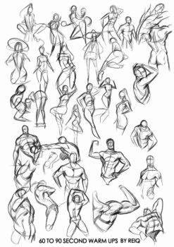 Warm ups drawings, that will change you life. by reiq