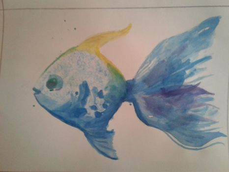 Water Paint Fish by luigihorror64